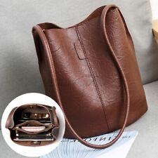 Women Leather Handbag Shoulder Bag Shopper Crossbody Bucket Satchel Travel Purse