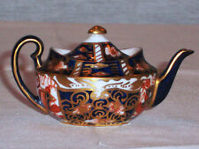 DISCONTINUED ROYAL CROWN DERBY OLD IMARI COBALT MINI /  MINIATURE TEAPOT MINT