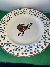 More details for emma bridgewater plate designed by mark herald, robin and berries