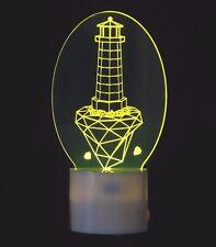 Night Light Lighthouse Artwork with LED Base