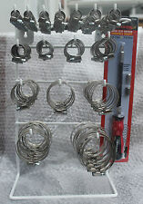224 x Steel Band Worm Drive Hose Clamps Jubilee Clip Workshop Garage Rack