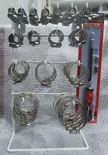 224 x Abrazaderas de Manguera de unidades WORM Banda de Acero Jubileo Clip Taller Garaje Rack