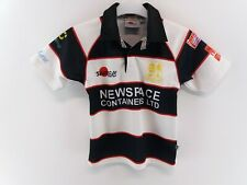 SAMURAI LYDNEY RFC Boys Rugby Shirt Junior Black White Red Polyester