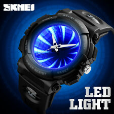 SKMEI Luxus wasserdichte Quarz LED leuchtende kreative Herren Mode Armbanduhr DE