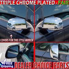 Fits 2012 2013 2014 Nissan Versa Triple Chrome Mirror COVERS Overlays Trims Caps