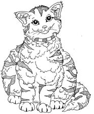 Mounted Rubber Stamps, Cat Stamps, Feline, Cute Cats, Animals, Fat Cat Stamp
