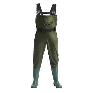 Hunting Fishing Waders Fly Fishing, Waterproof Bootfoot Nylon/PVC, Sizes 9-13