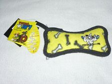 "Jr Bones -Yellow WORLDs ""TUFF""EST SOFT DOG TOY Tuffie's JR's  NWT dogs 4-12 lbs"