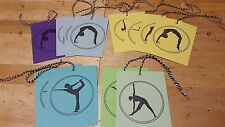 Multi colored Yoga tags, mini cards