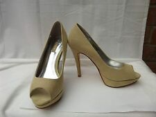 """NEXT UK 4 Pale Green peep toe platform court shoes 4"""" heel tried on only"""