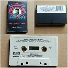 ELVIS PRESLEY Chrstmas Album CASSETTE TAPE Pop Rock Blues RCA Records 1985