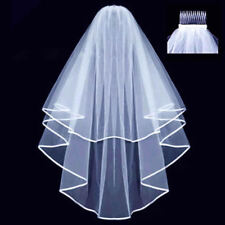 White Wedding Bridal Veil Comb Wedding Hen Night Bachelorette Party Accessory