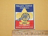 VINTAGE BSA BOY SCOUTS OF AMERICA PATCH 1960 VALLEY FORGE COUNCIL DELMONT RESERV