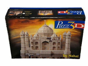 MB 3D Taj Mahal Royal Palace of India Jigsaw Puzzle 100% Complete 1077 Pieces
