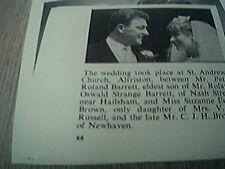 ephemera sussex 1966 wedding peter barrett suzanne brown newhaven