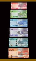 GAMBIA: Banknotes full Set:5 10 20 50 100 200 Dalasis , 2019 P-New Uncirculated
