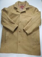 MERONA Wool Jacket Car OverCoat Mens Size XL Brown Lined Pockets