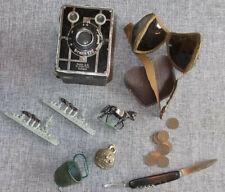 Konvolut Deutsches Reich Kamera Messer Spielzeug Zinn massiv Brille Münzen usw