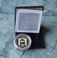 Slowakei 200 Kronen 2004 PP , Ag. mit Etui und Zertifikat *  EU-Beitritt