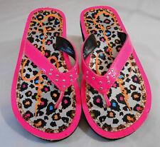 Jessica Simpson Girls KENIA Patent Flip Flops Childrens Sz 13 M Pink Multi-Color