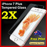 2x Scratch Resist Tempered Glass Screen Protector Guard for Apple iPhone 7 Plus
