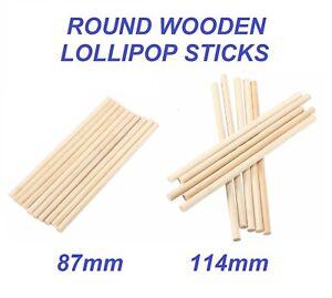 ROUND WOODEN LOLLIPOP STICKS - Birch Wooden Sticks - Lollies Crafts Model Making