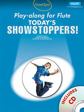 FLUTE TODAYS SHOWSTOPPERS Guest Spot Playalong Music Book & CD Show Film Tunes