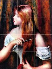 Art Girl Pierre Auguste Renoir Ceramic Mural Backsplash Bath Tile #1852