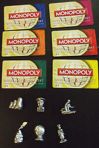 Spare/replacement parts for HERE & NOW MONOPOLY WORLD various available:CHOOSE:-