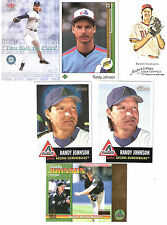 """6 Diff. Randy """"The Big Unit"""" Johnson Lot w/ rookie and serial #'d"""