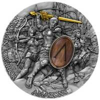 WOMAN WARRIOR Amazons 2 Oz Silver Coin 5$ Niue 2019