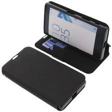 Funda para Sony Xperia X Compact Book Style Protectora de Móvil Negro