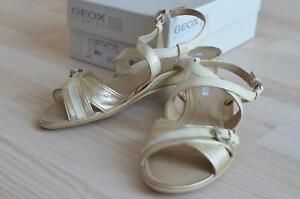 Geox Respira Sandalen Gr. 39 gold-beige