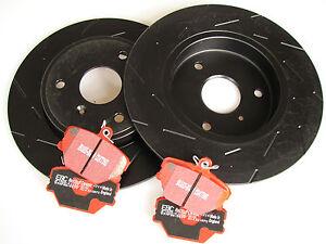 EBC Black Dash Sport Brake Discs + Redstuff Brake Pads Smart Fortwo 451
