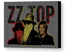 ZZ Top Greatest Hits Song List Incrdible Mosaic Framed Print Limited Edition COA