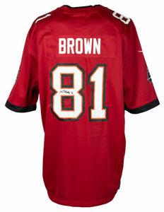 Antonio Brown Signed Tampa Bay Buccaneers Red Nike Football Jersey JSA ITP