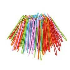 100Pcs Children Colorful Plastic 7cm Needles Tapestry Sewing Wool Yarn DIY