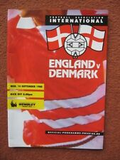 ENGLAND v DENMARK 14th September 1988