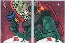Mars Attacks Invasion Sketch Card Puzzle Set By Joe Hogan