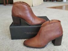Frye Women's Nora Whipstitch Shootie. Leather in Cognac, Size 7.5