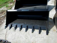 "80"" Heavy Duty Tooth / Dirt Bucket Quick attach skid steer Bobcat-Ship $149"
