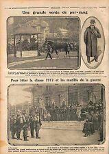 Haras de Saint-James Vente Cheval Ecurie Edmond Blanc Propriétaire WWI 1915
