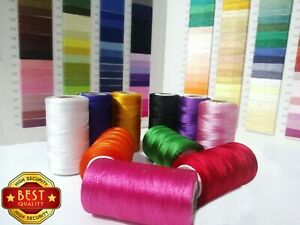 10 Silk spools sewing art machine embroidery strong thread for jokey , Brother ,