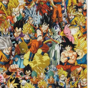 """Hydrographic Film Water Transfer Hydro Dipping Dip Anime Bomb 4 1M 19"""" x 38"""""""