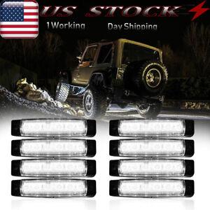 8x White LED Pods Rock Lights For Jeep Offroad Truck UTV SUV ATV Underbody Wheel