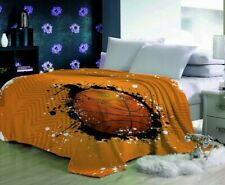 3D Basketball Court Plush Throw Blanket - Brand New King Size