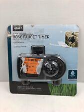 ORBIT 1 Dial 2 Outlet Hose Faucet Timer Programmable Interval Sprinkler System