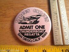1980 Power boat racing button Circus Circus Thunderboats Racing Team U-31