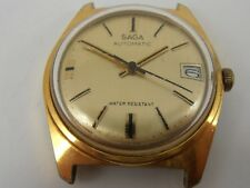 GENTS VINTAGE SAGA AUTOMATIC WRIST WATCH  SPARES OR REPAIRS