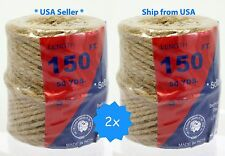 2x 150' natural twisted jute rope twine string parrot bird rope toy craft part